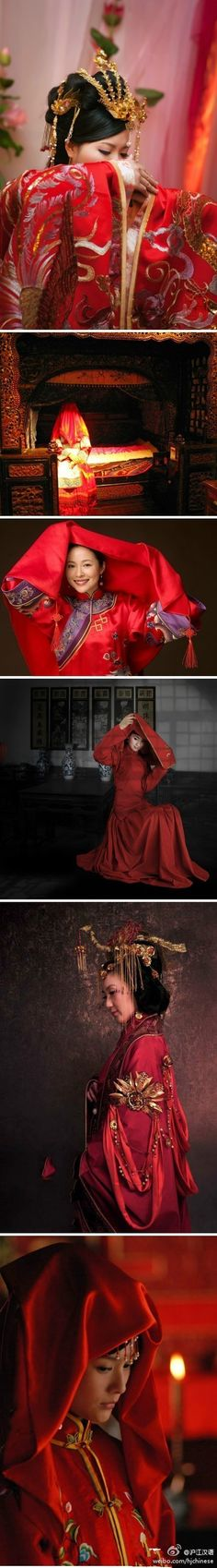 Chinese traditional wedding dont mind to do this :D Chinese Traditional Costume, Traditional Chinese Wedding, Traditional Wedding Dresses, Traditional Fashion, Chinese Style, Traditional Outfits, Wedding Chinese, Oriental Dress, Oriental Fashion