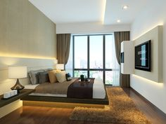 Interior design by Singapore's Rezt 'n Relax - August 24 2019 at Bedroom Interior, Master Bedroom Design, Modern Bedroom Design, Bedroom Design On A Budget, Master Bedrooms Decor, Interior Design Bedroom, Condominium Interior, Condo Interior, Interior Design Singapore