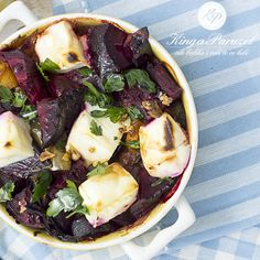 Buraki pieczone z kaszą i fetą - Roasted beets and feta cheese http://kingaparuzel.pl/blog/?p=4349