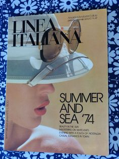 LINEA ITALIANA womens fashion magazine - May 1974 summer and sea issue - French 70s vintage /  Magazine mode femme LINEA ITALIANA mai 1974 ete mer - vintage années 70