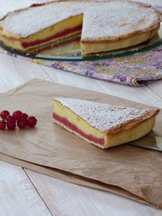 Tarte aux groseilles et au fromage blanc - Préparation de groseilles aux biscuits cuillers Fruit Recipes, Desert Recipes, Sweet Recipes, Fresh Cheese Recipe, Partys, Homemade Cakes, Queso, Yummy Cakes, Just Desserts