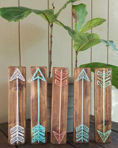 String Art Arrows Mint, Salmon, Aqua, Turquoise
