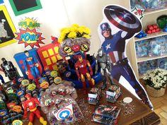 Bolo no palito Festa super herói Batman homem de ferro capitão América homem aranha huck