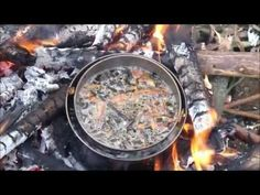 how to cook over an open fire - without burning the food... and without stirring