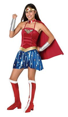 Wonder Women Superhero Fancy Dress Strapless Corset Skirt Cosplay Costume C1