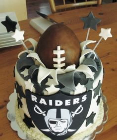 @KatieSheaDesign ♡♡♡ #Cakes  Raider Nation Love! Oakland Raiders By docspen on CakeCentral.com