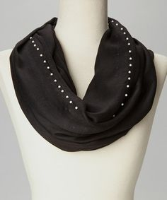 Look what I found on #zulily! Black Pearl Accent Infinity Scarf #zulilyfinds