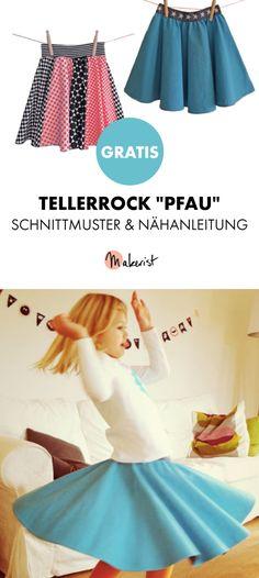 Gratis Anleitung: Tellerrock selber nähen - Schnittmuster und Nähanleitung via Makerist.de