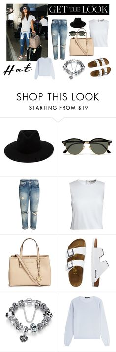 """Get the look"" by joanarita-azul ❤ liked on Polyvore featuring rag & bone, Ray-Ban, Canvas by Lands' End, Michael Kors, TravelSmith, IRIS VON ARNIM, GetTheLook and hats"