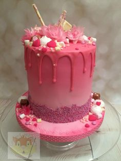 Explosion of pink! by Elaine - Ginger Cat Cakery
