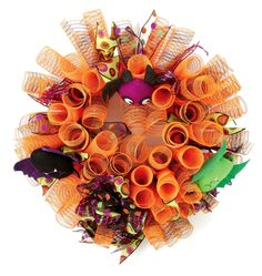 Nicole™ Crafts Bat Deco Mesh Wreath #decomesh #wreath #halloween