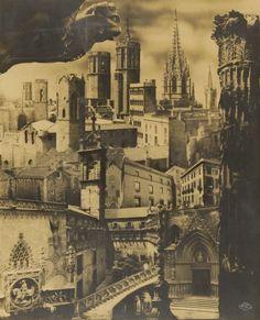 © Pere Català Pic. Photomontage of the Gothic Quarter, for the Sociedad de…