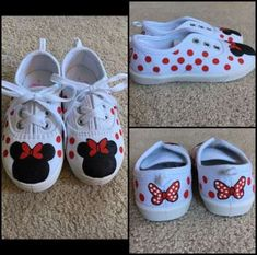 Minnie Mouse Painted Canvas Shoes by CFloPaint on Etsy Disney Painted Shoes, Painted Canvas Shoes, Custom Painted Shoes, Hand Painted Shoes, Custom Shoes, Mickey Mouse Shoes, Minnie Mouse, Kid Shoes, Girls Shoes