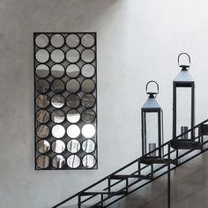 Metallspiegel schwarz H 156 cm | Maisons du Monde