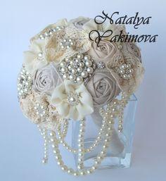 Broche ramo Bouquet Vintage Bouquet rústico Bouquet por singleday