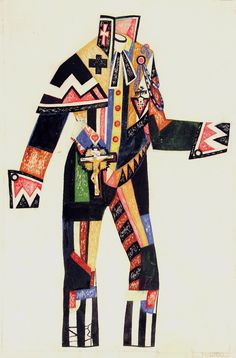 Artur Liandsberg – Costume Design for the Patron of Philanthropic Institutions for Inspector General produced at the Press House, Leningrad, 1927