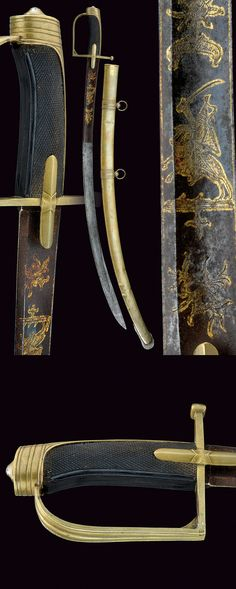 A Hussar officer's sabre, I Empire.    provenance: France dating: first quarter of the 19th Century.