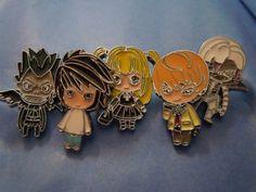 Death Note Pin Set Anime Enamel Pins Set of 5 Light L by laminartz