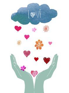 Love Print for Haiti: Love Print by Claudia Pearson