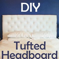 """In part one, I talked about how I made my tufted headboard up until the actual tufting - and here I'll cover the rest! Where I left off, I had a pegboard with 3"""" foam sitting on top of it, and the ..."""