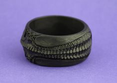 Gothic ornate HR Giger inspired  black resin by VoodooDelicious, $45.00