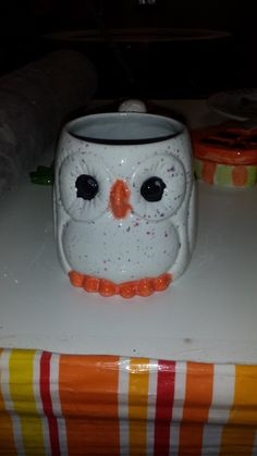 Owl Mug I helped my niece paint at The Painted Turtle Pottery Studio