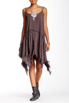 Tattered Up Slip Dress