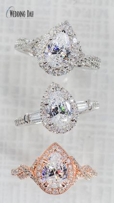 Wedding Day Diamonds provides a large designer selection of engagement rings to the Minneapolis area, stop by or give us a call at Best Engagement Rings, Halo Diamond Engagement Ring, Rustic Wedding, Wedding Day, Pear Diamond Rings, Something Old, Diamond Are A Girls Best Friend, Diamonds, Sparkle
