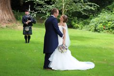 A huge Congratulations to the lovely Courtney & Matthew, who were married today at New House Country Hotel in Thornhill Cardiff. I Bagpiped for arriving guests, some of which had travelled from USA. A Celtic mix of Land of my Fathers & Flower of Scotland during the signing of the register, before Bagpiping out of the ceremony to Scotland the Brave and continuing during Wedding Drinks & Photographs. A great day :-) #SouthWales #Bagpipes #Cardiff #NewportWales #Newport #Torfaen #Swansea…