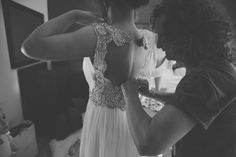 Backless Grecian style wedding gown by Jenny Packham | | Photography by http://www.mirrorboxphotography.com/