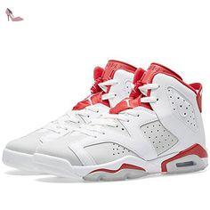 newest 66736 26b14 Nike Air Jordan 6 Retro, Chaussures de Sport Homme - Blanc - Weiß, 40.5 EU   Amazon.fr  Chaussures et Sacs