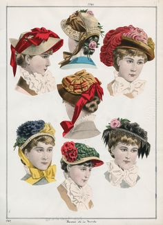 LAPL, Revue de la Mode, 1880 Though not always exact ,the shapes of several of these are very good