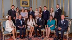 First official picture  Sofia Hellqvist Family and the Royal Swedish Family