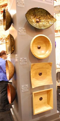 Vessel sinks from solid bamboo