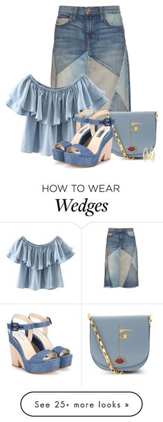 """""""Untitled #5332"""" by barbarapoole on Polyvore featuring Current/Elliott, Lulu Guinness, WithChic, Jimmy Choo and Swarovski"""