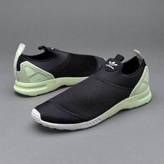 c0bcb92508c3c adidas ZX Flux ADV Smooth Black Trainers  adidas  SlipOn Trainers Adidas