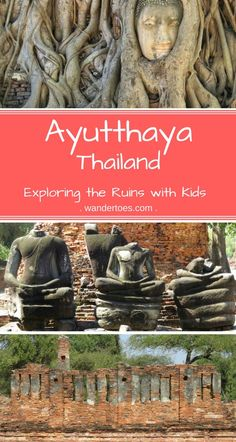 Ayutthaya Thailand with Kids  - We explored these amazing ruins, climbing a wall, inside a chedi, and Thai ice cream to top it off.