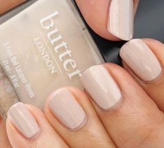 Love this Butter London nude nail polish!