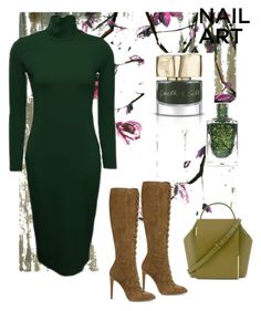 """""""Winter Greens🌲❄🌨"""" by parnett ❤ liked on Polyvore featuring beauty, Leftbank Art, Smith & Cult and Gianvito Rossi"""