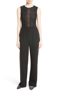 0a3a3084602a Ted Baker London Kayle Lace   Chiffon Bodice Jumpsuit Ted Baker Fashion