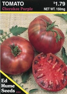 Purple Cherokee Tomatoes My Favorite.  Would like to try these next year