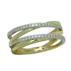 0.25 cttw. Diamond Ring https://www.goldinart.com/shop/rings/diamond-rings/0-25-cttw-diamond-ring #DiamondRings, #YellowGold