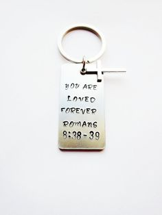 You are loved forever keychainScripture by DIVINEandZOE on Etsy