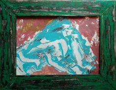 "Saatchi Art Artist remus-lucian stefan; Painting, ""Pictografia blue green red"" #art"