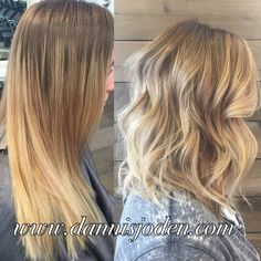 Color correction using reverse balayage and a textured lob ( long bob )! Hair by Danni in Denver, Colorado