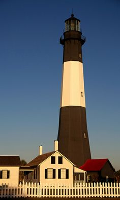 Tybee Island lighthouse at sunrise