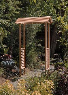 Cedar Arbor: Vista Arbor with Gable Top | Gardeners.com