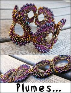 Love tis pattern and the colors - Cécile is so talented with colors  * I like this for earrings