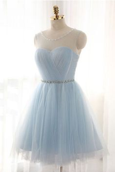 Light Sky Blue Homecoming Dress#LightSkyBlueHomecomingDress Short Prom Dress#ShortPromDress Tulle Formal Gown#TulleFormalGown Custom Prom Dresses#CustomPromDresses