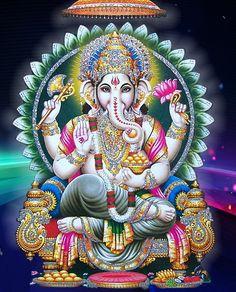 Make this Ganesha Chathurthi 2020 special with rituals and ceremonies. Lord Ganesha is a powerful god that removes Hurdles, grants Wealth, Knowledge & Wisdom. Arte Ganesha, Shri Ganesh, Krishna, Ganesh Lord, Durga, Ganesh Images, Ganesha Pictures, Karma Yoga, Kundalini